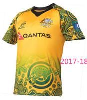 camisa do jérsei t venda por atacado-Hot vendas 17 18 NRL Jersey Edição Comemorativa Australiana 2017 2018 Austrália rugby Jerseys camiseta s-3xl