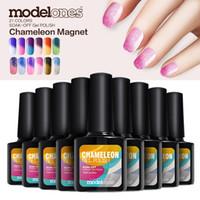 Wholesale Led Color Changing Nail Polish - Modelones 10Pcs 10ml Fashion Color Change Nail Gel Long-lasting Soak Off UV LED Nail Gel Polish