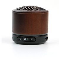Wholesale Free Computer Music - Wholesale- Bluetooth Speaker KUBEI Wooden Wireless Subwoofer Stereo Speaker MP3 Music Player Support TF Card FM Radio Hands-free Speaker