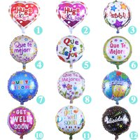 Wholesale Wells Toys - 18 inch Encourage Words 'get well soon' Alumium Coating Balloons Valentine's Day Wedding Balloon Children Toys Supplies
