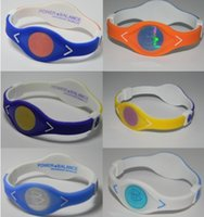 Wholesale Energy Power Band Bracelet - Wholesale 50pcs lot Double Layer Power Energy Band Wristband Silicone Bracelet MC049 for Game energy