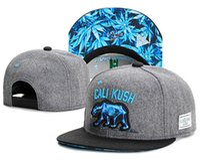 Wholesale Cheap Floral Print Tops - gray blue cali kush cap baseball hat fashion brand snapback caps for men women sport hip hop bone cheap top quality sun hat Drop Shipping