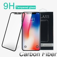 Wholesale Glass Screen For Cell Phone - Tempered Glass 3D HD Soft Protective Film for iPhone X 6 6s 7 8 Plus Cell Phone Full Cover Carbon Fiber Screen Protector