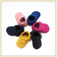 Wholesale Cheapest For Shoes - Cheapest price for genuine leather baby suede moccasin shoes soft touch baby leather shoes