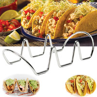 Wholesale Stainless Steel Food Stand - Silver Taco Rack Holder Stainless Steel Food Rack Display Holder Pie Pancake Stand DIY Baking Decorating Tools