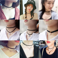 Tibet Tatouage Pas Cher-New Mode Vintage stretch Tattoo Choker Collier Gothic Punk Grunge Henna Elastic Multi Color Collier ras du cou Bijoux femmes
