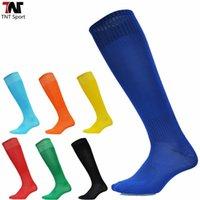 Wholesale Plain Black Socks - 1 Pair Plain Soccer Socks Baseball Football Basketball Cycling Sports Stockings Sport Knee Ankle High Solid Men Socks L348A