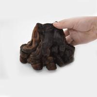 aunty funmi örgü toptan satış-Ombre Saç 3 Parça Teyze Funmi Saç Malezya Funmi Kıvırcık Örgü 1B / 30 Iki Ton İnsan Saç Uzantıları G-EASY