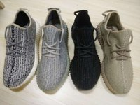 Wholesale Plus Size Rubber - 2016 version big plus size us12.5,us13 turtle dove Boost 350 with box Moonrock Kanye west 350 Boost grey big size running shoes