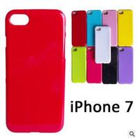 iphone 5s jöle durumlarda toptan satış-Şeker Renk Yumuşak TPU Jel Kauçuk Silikon Jöle Kılıf Kapak iphone 7 SE 5 S 6 6 s Artı Samsung Galaxy S6 S7 kenar not 7 Katı Renk DHL