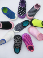 Wholesale Socks Playing - 2016 New Baby slip-on Sports Shoes Infants play two way Sneakers kids casual knitting upper socking shoes 8sizes for 2-8T boys girls