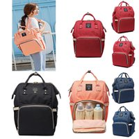 Wholesale Multifunction Diaper Bags - New Mommy Backpack Nappies Bags Fashion Maternity Multifunction Diaper Backpacks Large Volume Outdoor Travel Storage Bags 8 Color WX-B30