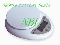 Wholesale Package Weight Scale - 5000g 1g Digital Kitchen Scale 5kg Food Diet Postal Balance Weight LED Light Scales B05 with Package Box Free Shipping