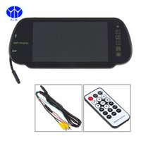 "Wholesale Mirror Bluetooth Lcd - Newest High Resolution Full HD 7"" TFT LCD Car Rear View Mirror Monitor Bluetooth MP5 USB SD TF Slot Parking Assistance"