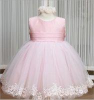 Крестильное платье розовое