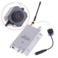 Wholesale Cmos Wireless Color Mini Camera - Wireless 1.2Ghz Mini Camera 380TVL Color CMOS 3.66mm Lens Home Security Camera Surveillance CCTV Camera Monitor Webcam