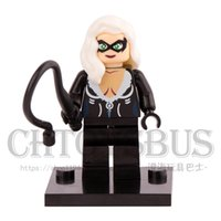 Lego Compatible spider cat - Felicia Hardy Black Cat Spider Man SUPER HEROES The Avengers Minifigures Assemble Building Blocks Kids Toys Gift