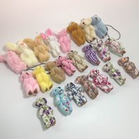 "Wholesale Teddy Fabric Wholesale - 100pcs 4.5cm(1.8"") plush toy teddy bear cartoon cloth dolls fabric join bears creative DIY handmade jewelry accessories"