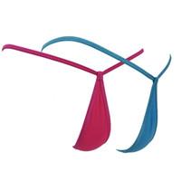 kafesli penis toptan satış-Adam Erkek Penis Kılıfı G-String Pamuk Örgü Şeffaf Mikro Mini Bikini Tanga Külot T-Geri Külot Eşcinsel İç Tangas Erotik Lingerie