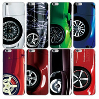 Wholesale Cool Apple Skins - Fashion Cool 3D Racing Sport Car Hard Plastic PC Case For Iphone SE 5 5S  6 6S Plus 6PLUS  For Galaxy S7 Edge S6 Edge Wheel Back Skin Cover