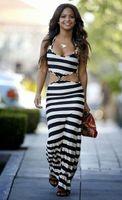 Wholesale Stripe Mini Skirt Dress - 2016 explosion models sexy stripe printing Elastic Waist Beach Dress Skirt
