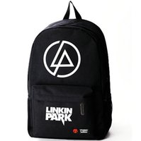 Wholesale music school bag - Lp backpack Linkin Park day pack Rock band school bag Music packsack Quality rucksack Sport schoolbag Outdoor daypack