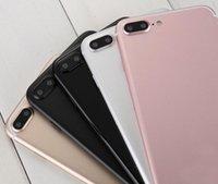 Wholesale Silver Heart Usb - goophone i7 Plus android 6.0 smartphone Quad Core MTK6580 1GB RAM 12GB 960*540 5.5 Inch 3G WCDMA Fake 4g lte vphone