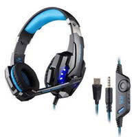 Nuevo barato Kotion cada G9000 Gaming Headset Auriculares 3.5mm Jack estéreo con Mic LED luz para PS4 / Tablet / Laptop / teléfono celular DHL