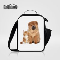 Sacs à lunch isolés portatifs pour enfants Alimentation thermique Bolsa Termica 3D Cat Dog Animal Lunch Box Messenger Bag pour école Femmes Enfant Lancheira