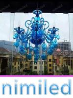 bougies violettes achat en gros de-nimi1124 Bleu Violet Lustre Cristal Lumières Bar Café KTV Lumière Hôtel Villas Salon Verre Bulle Bougie Pendant Lampes Éclairage