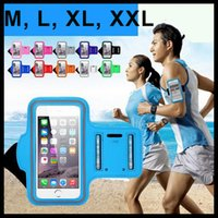 Wholesale Neoprene Running Armband - 2016 NEW! Waterproof Sports Running Armband Case Armband Holder Pounch Arm Bag Band for Smart Phone iPhone Cellphone Arm Band Bag Free DHL