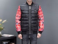 Wholesale Hd Coat - Highly Recommended PP Autumn and Winter New Men's Cotton Jacket, HD 3D Printing Skull Pattern High-quality Slim Coat