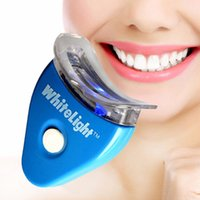 Wholesale Blue Tooth Kits - Teeth Whitening Fine Dental Tooth Teeth Cleaner Whitener System Whitelight Gel Kit Set with Free Gift (Color Blue)