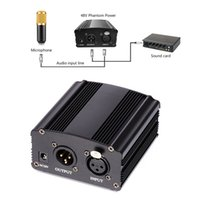 Wholesale Xlr Adapter - 48V Phantom Power EU US Plug 110V 220V 1-Channel Supply+Adapter+One XLR Audio Cable for Any Condenser Microphone Recording