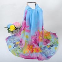 Wholesale Korean Winter Fashion Design - Autmn Winter New Design Women Warmer Scarf Korean Style Big Floral Pattern Wrap Special Price Mix Colors