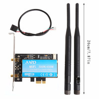 Großhandel-2-in-1 Dual-Band Bluetooth V4.0 Wireless Wifi PCI-Express-Karte Desktop-Adapter BCM943228HMB 300M