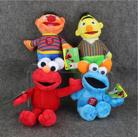 Wholesale Games Sesame - 23cm Sesame Street Elmo Cookie Ernie Bert Stuffed Plush Doll Soft Toys For Children Free shipping