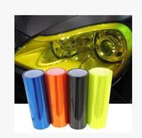 Wholesale Tail Lights Tint - 2015 hot sale 30cm*100cm headlights film A variety of color Tint Headlights Stickers Fog Lights Sidemarker Vinyl Film Motor Car Sticker