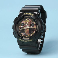 Wholesale Luxury G Shock - Mens G Sports GA100 Luxury Watches LED Waterproof Digital S Shock Men 100 Watch All Pointers Work Auto Light with Box Drop Ship