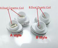gpenwachs großhandel-Micro G Elipe Zerstäuber-Spulen Doppelquarz-Spulenkopf Keramikstab für Elips Wachsstift Micro Gpen Doppelspulenstab E-Zigarette