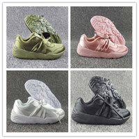 Wholesale Girls Sports Shoes Size 36 - 2017 Hot Sale Women Fenty Bandana Slide Sports Shoes Girl Suede Basket Running Shoes Rihanna Fenty Bow Sneakers Size 36-40