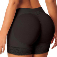 moldeador trasero acolchado al por mayor-Hot Shaper Pants Sexy Boyshort Bragas Mujer Fake Ass Underwear Push Up Bragas acolchadas Buttock Shaper Butt Lifter Hip Enhancer