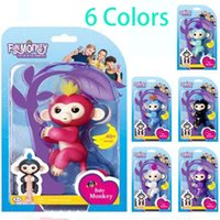Wholesale Baby Toy For Sales - Baby Monkey Toys 6 colors Pre-sale retail Fingerlings Interactive Baby Monkey Finger Toys Electronic Smart Fingers Monkey For Grift