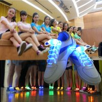 Wholesale Side Glow - 80CM Luminous Supreme Shoe Strings Fashion Glowing Stick Strap With Plastic Side Button Party Laces Multi Colors LED Flashing Shoe Laces