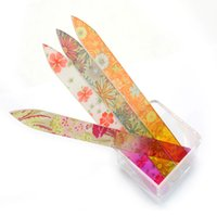 Nuovo 4pcs Crystal Nail File File multicolore Buffer Art durevole con custodia 5.5inch Manicure Device Tool Set