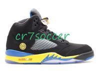 Wholesale Shoes Shanghai - retro 5 shanghai shen Men Basketball Shoes Cheap 5 retro Athletics sneakers wholesale retro V Colorway:black varsity royal-varsity maize