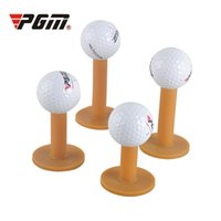 ingrosso supporto per tee da golf-PGM Gomma Golf Tee Holder 43/54/70 / 80mm Training Practice Tee Mat Golf Ball Hole Holder Principiante Trainer Practice 2513004