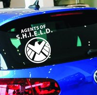 Wholesale Agent Car - 30*30cm size Car Stickers The Avengers Agents of SHIELD Decals For Car Body Waterproof factory price