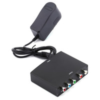 Wholesale video converter component for sale - HDMI To YPBPR RGB Converter Component Video and R L Audio Adapter Converter For HD TV P with EU Plug Charger