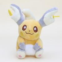 "Wholesale hot doll games - 10pcs lot Hot sale edition Raichu high quality toy soft pikachu plush toys doll 15cm 6""t"